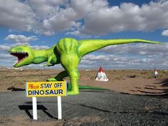 Please Stay Off the Dinosaur.