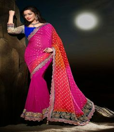Style  : Designer Saree Fabric  : Georgette - Viscose Occassion  : Party wear, Traditional wear,Wedding wear Season  : Any Time to Ship  : 8 Working Days Max Instructions  : Wash Dry Clean only