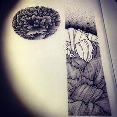 Abstract textured flower! Dispo pour être tatoué! (Taille minimum 30cm) Pour…
