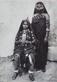 Oman | Postcard image of Beluchi women in Muscat. ca. 1901 | Photographer A.R. Fernandez