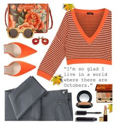 """""""Octobers"""" by juliehooper ❤ liked on Polyvore featuring Manolo Blahnik, Max&Co., Balenciaga, Marc Jacobs, Clarins, Chanel, MAC Cosmetics, orange, autumn and polyvoreeditorial"""