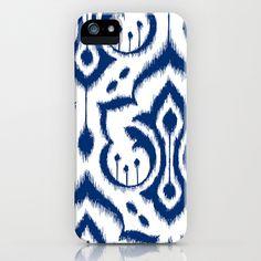 Ikat Damask Navy iPhone & iPod Case by Patty Sloniger - $35.00