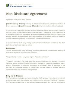 short non disclosure agreement template - free notarized residential lease agreement organization