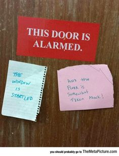 The Door Is Alarmed