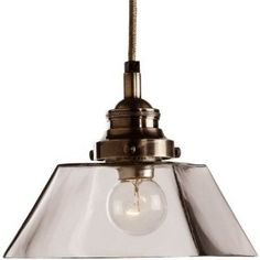 Hallway? Arteriors 44336 Franklin Antique Silver and Glass Pendant, Glass and Brass