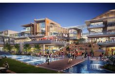 Low Architects recently completed the design of an expansive new million square-foot mixed-use development for CM-OCT Investment in Longhua New District, Shenzhen, China. Retail Architecture, Commercial Architecture, Futuristic Architecture, Landscape Architecture, Architecture Design, Green Architecture, Atrium Design, Facade Design, Street Mall