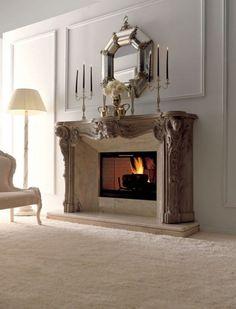 chimeneas de lujo y elegantes 1 Chimeneas de Diseño Clásico, Lujosas y Elegantes