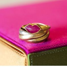 81b8c89aec3  mariehelenedetaillac  ring and Cartier trinity ring Fire Heart
