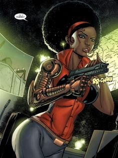 Misty Knight!  Former cop turned Hero for Hire, one bionic arm, all badass