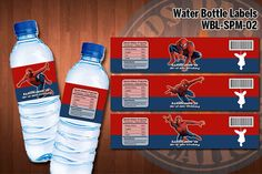 SPIDERMAN Water Bottle Labels - Printable for Spiderman Birthday Party - Latest designs