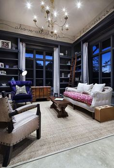 Amazing Spanish Design for Home Exterior and Interior Design: Awesome Family Room Hill Country Modern Home Wicker Carpet Design Eclético, House Design, Design Ideas, Wall Design, Design Inspiration, Eclectic Design, Modern Interior Design, Eclectic Living Room, Living Room Designs