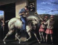 pinturas de david manzur - Buscar con Google Trinidad, Paintings I Love, David, Lion Sculpture, Horses, Statue, Dogs, Animals, Image