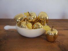 Gold Apple Vintage Ornaments by jessamyjay on Etsy