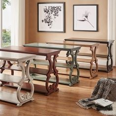 Lorraine Wood Scroll TV Stand Sofa Table by iNSPIRE Q Classic | Overstock.com Shopping - The Best Deals on Coffee, Sofa & End Tables