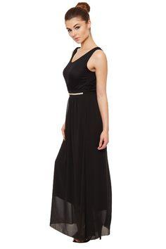 Terica Chiffon Diamante Maxi Dress | WearAll