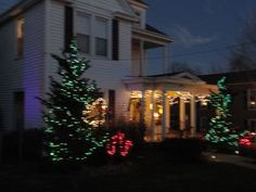"""A lovely well lit home in Wilmore Kentucky adorns the streets during """"The Christmas in Wilmore"""" celebration."""