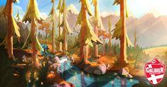 Etienne SAVOIE autumn pine river