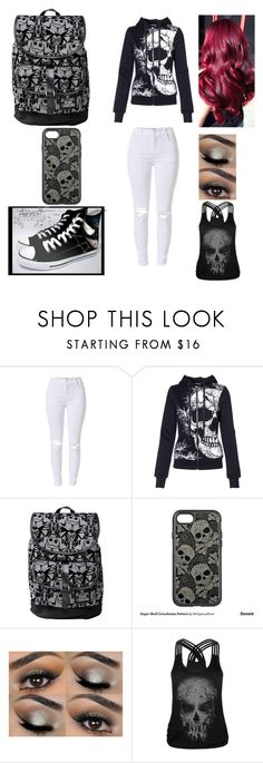 """""""Skulls fora day"""" by alex-hayze on Polyvore featuring Converse, Disney, OtterBox and WithChic"""