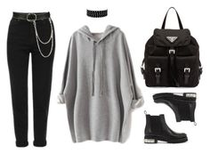 """""""Simplicity"""" by baludna ❤ liked on Polyvore featuring Prada, Topshop, Wet Seal and Alexander McQueen"""