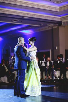 18 sikh indian wedding bride and groom first dance yellow lengha
