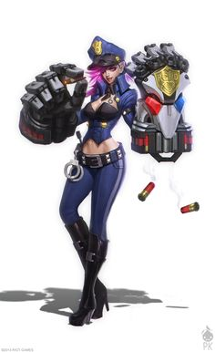Officer Vi Concept Art by Zeronis.deviantart.com on @deviantART