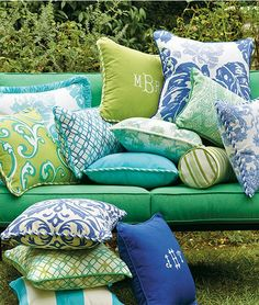 This year, color your backyard with outdoor pillows that will never fade.