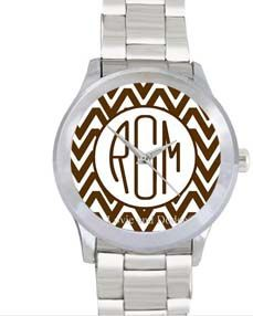 Personalized Watch-Chevron Brown $60-$70