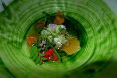Restaurant - Noma In Copenhagen  Head Chef - Rene Redzepi Style Of Food - Seasonal, terroir-led Scandinavian Dish - Brown crab, egg yolk and herbs