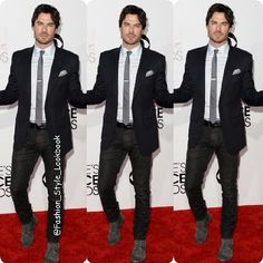 'Run Like Ian Somerhalder Is Waiting For U at The Finish Line'#iansomerhalder #vampire #thevampirediaries #ninadobrev #damonsalvatore #paulwesley #stefansalvatore #fashion #style #hot #handsome #outfit #ootd #selfie #magazine #cool #wow #awesome #man #mensfashion #beaman #suit #tie #black #wtf #classy #omg... - Celebrity Fashion