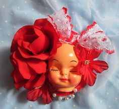 Dollface Fascinator Hat  Lace by rascalkosher on Etsy, $65.00