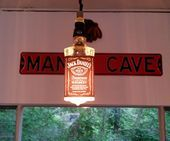 Whiskey Bottle Hanging Lamp