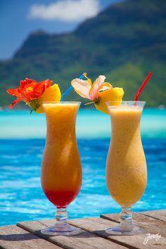 Boat Drinks at the Le Meridien Bora Bora