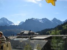 View from restaurant in Murren Switzerland