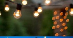 An Ideas About Patio & Lighting: How to hang patio lights in any space! This is such a fun #DIY idea for  summer parties backyard lighting and even Weddings!
