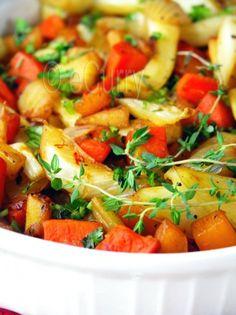 Saffron and Honey Glazed Root Vegetables