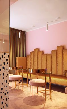 A dazzling polished brass bar, plush room-dividing curtains and rich white marble accents; the levels of opulence are entirely appropriate at Naïve, a Kiev bar solely dedicated to sparkling wine. In a clear step away from the industrial aesthetic that...