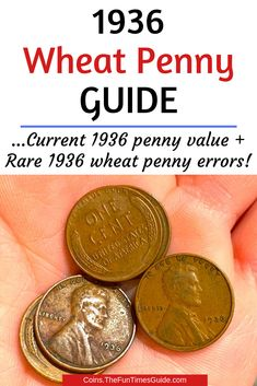 Money saving tips 508203139204590056 - Here's everything you want to know about 1936 Lincoln cents: The current 1936 penny value + Rare 1936 wheat penny errors that you can find in your spare change! Source by Valuable Pennies, Rare Pennies, Valuable Coins, Wheat Penny Value, Rare Coin Values, Old Coins Value, Penny Values, Old Coins Worth Money, Coin Prices