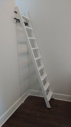 ladder, ladders, Loft ladder, Library ladder, custom ladder, customized ladder, handmade ladder, interior ladder, woodworking, furniture, oak, handcrafted, painted, indoor ladder, tapered, wood ladder, wooden, rolling ladder, closet, office, kitchen, storable, ship, nautical, Home & Living, Storage & Organization, Home Improvement, mounting kit, rail, Folding, decorative, Classic, Traditional, modern, sliding, stationary, extension, stepstool, organization, artfxwoodworks, step ladder