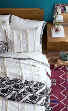 Shop Opalhouse New Target Home Decor Furniture Line - textured bedding from Opalhouse, Target's new collection You are in the right place about traditio - Target Bedroom, Target Bedding, Accent Wall Bedroom, Bedroom Decor, Accent Walls, Paris Bedroom, Bedroom Ideas, Home Decor Styles, Bed Sets