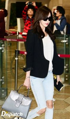 Yoona 151004 Girls' Generation @ Airport to Japan
