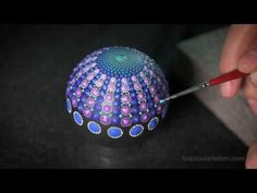 DIY Painting a Mandala Stone - Part 1/2 - YouTube