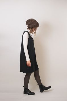 Hackwith Design House dress + Everlane Modern Chelsea Boot + Self-made hat