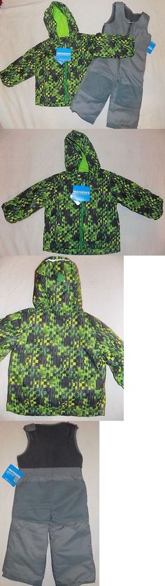 705bf37f8ec5 Outerwear 147324  Columbia Toddler Boys 3T Outgrown Green Frosty Slope Set  Snow Bibs Coat New