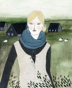 Yelena Bryksenkova. I love her work and detailed textures and patterns.