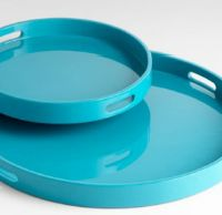 Turquoise, of course. (Why do people pay over a hundred bucks for a tray, btw?)