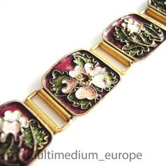 Gertrud Fries-Arauner Augsburg Armband Cloisonné Emaille bracelet enamel signed