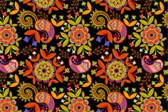 2 Floral Seamless Patterns by Sunny_Lion on Creative Market