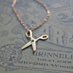 Regina Pruss, the artist behind chain chain chained  Little Scissors Necklace now featured on Fab.
