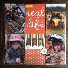 Real life fun scrapbook layout