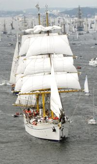 Segelschulschiff Gorch Fock. My son was here!